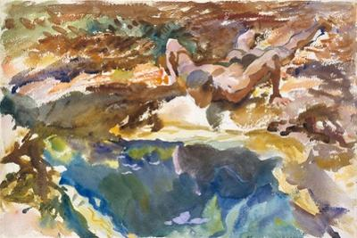 Man and Pool, Florida, 1917 by John Singer Sargent