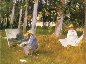 Monet Painting Woods, 1888 by John Singer Sargent