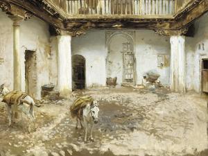 Moorish Courtyard, 1913 by John Singer Sargent