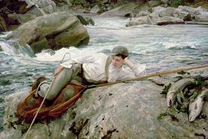 On His Holidays, Norway, 1901 by John Singer Sargent