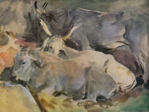 'Oxen at Siena', c1910 by John Singer Sargent