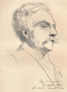 'Portrait-Sketch of M. Gabriel Faure', c1889 by John Singer Sargent