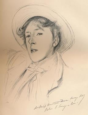 'Portrait sketch of Miss Violet Paget (Vernon Lee)', c1881 by John Singer Sargent