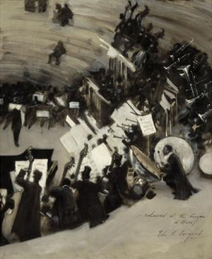 Rehearsal of the Pasdeloup Orchestra at the Cirque d'Hiver, about 1879–80 by John Singer Sargent