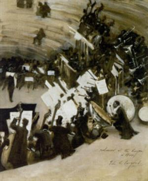 Rehearsal of the Pasdeloup Orchestra at the Cirque d'Hiver by John Singer Sargent