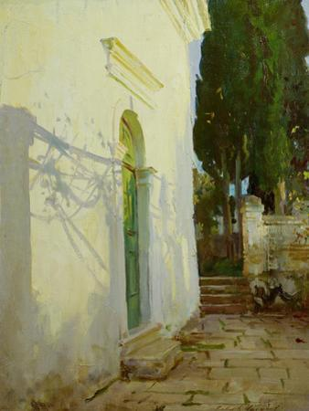 Shadows on a Wall in Corfu by John Singer Sargent