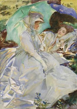 Simplon Pass: Reading, about 1911 by John Singer Sargent