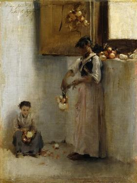 Stringing Onions, C.1882 by John Singer Sargent