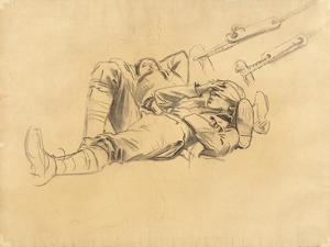 """Study for """"Gassed"""", 1918-9 by John Singer Sargent"""