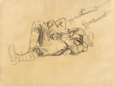 "Study for ""Gassed"", 1918-9 by John Singer Sargent"