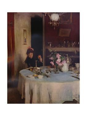 'The Breakfast Table', 1884 (1934) by John Singer Sargent