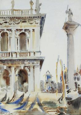 The Corner of the Libreria, with the Column of St. Theodore, Venice, 1904 by John Singer Sargent