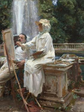 The Fountain, Villa Torlonia, Frascati, Italy, 1907 by John Singer Sargent