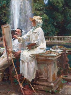 The Fountain, Villa Torlonia, Frascati, Italy by John Singer Sargent by John Singer Sargent