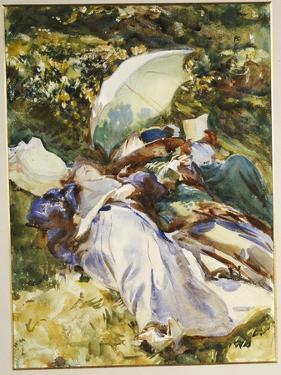 The Green Parasol, C.1910 by John Singer Sargent