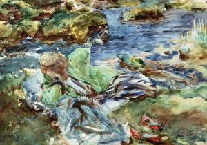 Turkish Woman by a Stream by John Singer Sargent