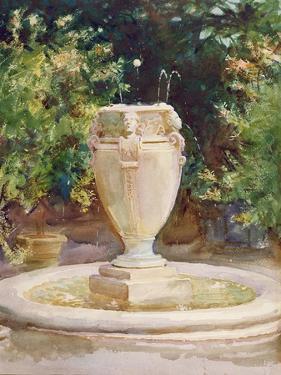 Vase Fountain, Pocantico by John Singer Sargent