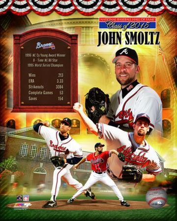 John Smoltz MLB Hall of Fame Legends Composite