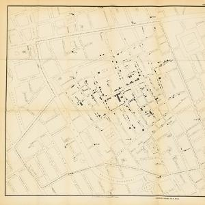 A Map from 'On the Mode of Communication of Cholera', 1855 by John Snow
