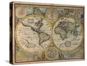 A New and Accurat Map of the World, 1651 by John Speed