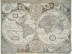 A new and accurate map of the world, 1676 by John Speed