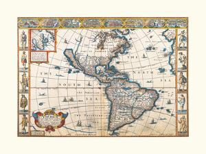 America, 1626 by John Speed