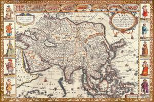 Antique Map, Asia, 1626 by John Speed