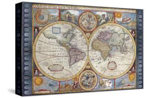 Antique Map, New Map of the World, 1626 by John Speed