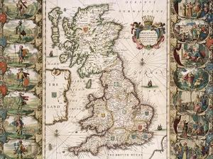 Britain as It Was Devided in the Tyme of the Englishe Saxons, 1616 by John Speed