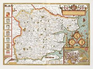 Essex, Engraved by Jodocus Hondius (1563-1612) from John Speed's Theatre of the Empire by John Speed