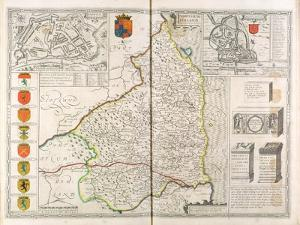 Map of Northumberland, from 'The Theatre of the Empire of Great Britaine', 1611-12 by John Speed