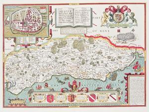 Sussex, engraved by Jodocus Hondius by John Speed