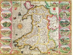 Wales, engraved by Jodocus Hondius by John Speed