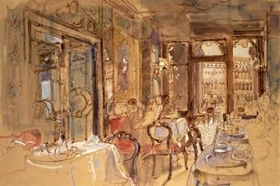 Interior of Florian's, Venice, 1984 by John Stanton Ward
