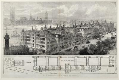 New St. Thomas's Hospital Opened by the Queen Last Wednesday, 1871