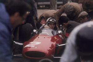 John Surtees in a Ferrari