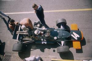 John Surtees in His Brm at the British Grand Prix, Silverstone, Northamptonshire, 1969