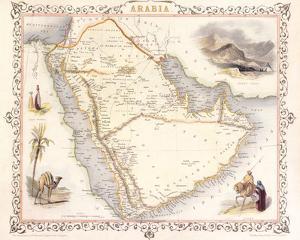 Arabia, 1851 by John Tallis