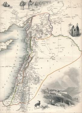 Map of Syria, 1851 by John Tallis