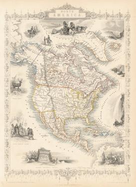 North America, 1851 by John Tallis