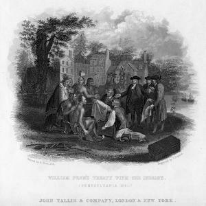 William Penn's Treaty with the Indians, Pennsylvania, 1681 by John Tallis