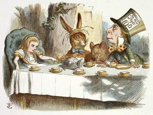 The Mad Hatter's Tea Party by John Teniel