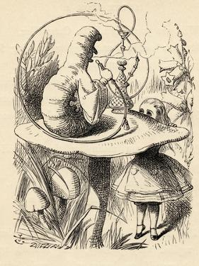 Advice from a Caterpillar, from 'Alice's Adventures in Wonderland' by Lewis Carroll, Published 1891 by John Tenniel