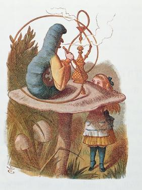 Alice and the Caterpillar, Illustration from 'Alice in Wonderland' by Lewis Carroll by John Tenniel