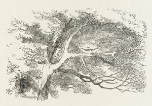 Alice and the Cheshire Cat the Cheshire Cat Fades Away by John Tenniel