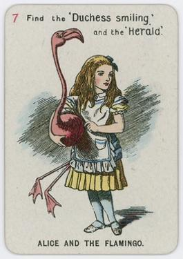 Alice and the Flamingo by John Tenniel