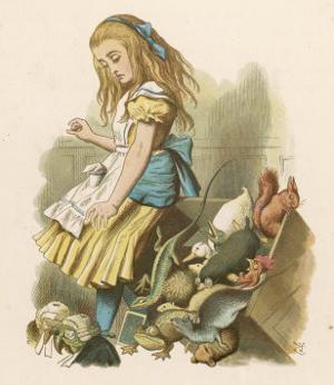 Alice and the Jury by John Tenniel