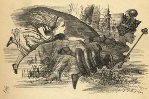 Alice and the Red Queen, Illustration from 'Through the Looking Glass' by Lewis Carroll (1832-98)… by John Tenniel