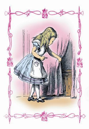 Alice in Wonderland: Alice Tries the Golden Key by John Tenniel