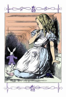 Alice in Wonderland: Alice Watches the White Rabbit by John Tenniel